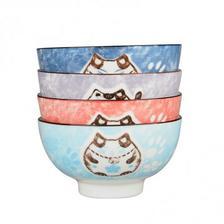 雅诚德日式釉下彩招财猫 4.5英寸饭碗*4个 5折 直邮中国 ¥19.8