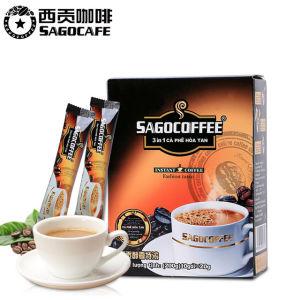 越南进口 西贡咖啡 醇香特浓三合一速溶咖啡10条200g 19.9元包邮 直接好价