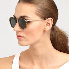 巨星范儿!KAREN WALKER凯伦·沃克女士玳瑁色太阳眼镜 限时好价805元包邮(需