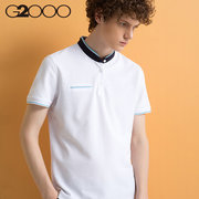 G2000夏新款韩版立领修身POLO衫 119元包邮'