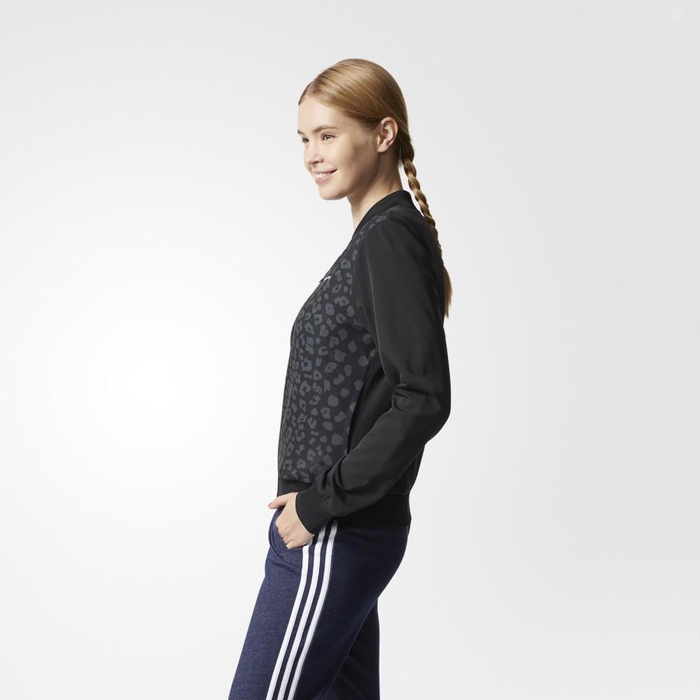 阿迪达斯 adidas neo 女子 运动上衣 黑 CF9803 200元