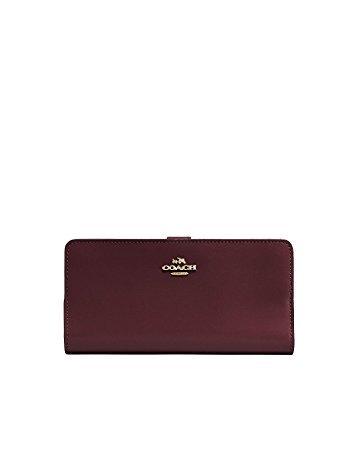 Coach 蔻驰 女式 紧凑型钱包 51936 LIOXB 浅金色/深红色 均码(亚马逊进口直采,美国品牌) 760元