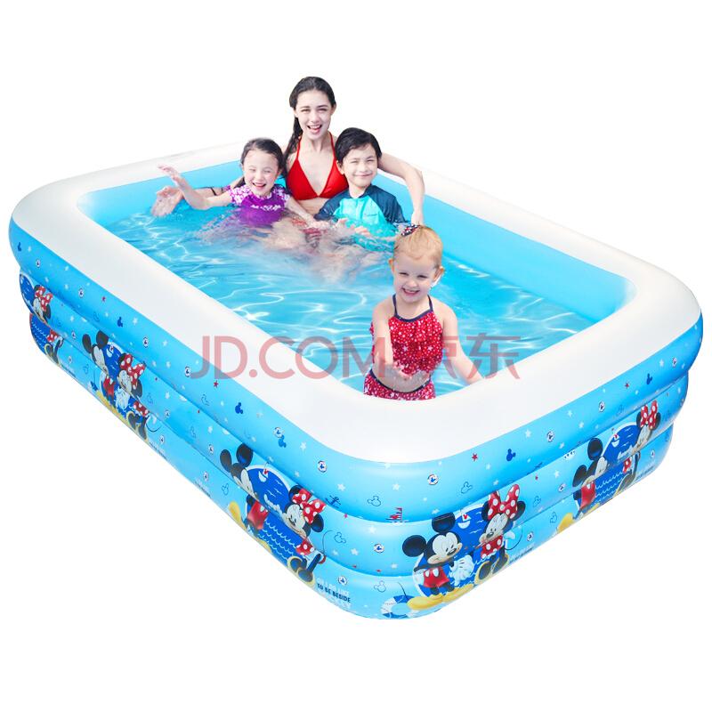 迪士尼(DISNEY)家庭充气游泳池大号儿童宝宝戏水池成年人加厚大型泳池1.4米 *3件 217元(合72.33元/件)