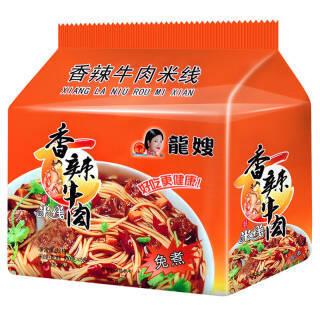 龙嫂 香辣牛肉 袋装非油炸方便面粉丝 五连包 500g *7件 60.6元(合8.66元/件)