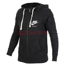 Nike耐克 女款 AS W NSW GYM VNTG HOODIE FZ运动生活系列针织夹克 883730-010 黑色 L码 2