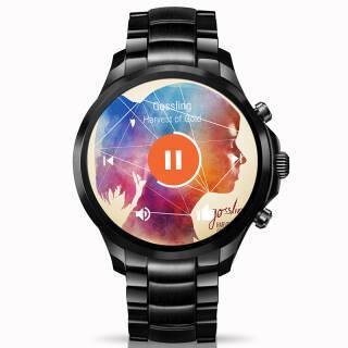 阿玛尼 手表 时尚欧美智能表 电子机芯触屏腕表 Display系列 商务运动 男士黑色钢链ART5002 2590元