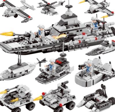 ¥39 倍奇 积木军事组装玩具