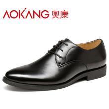 159元包邮(259-100)奥康 男士商务休闲真皮尖头皮鞋 天猫低价