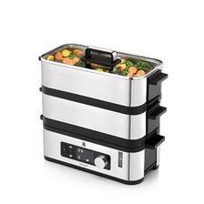 中亚prime会员:福腾宝(WMF)不锈钢双层智巧电蒸锅Kitchenminis Vitalis E Steamer(智