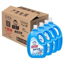 ¥59.9 限地区:Baimao 白猫 高效洁净 清新花香洗衣液 3kg*4瓶