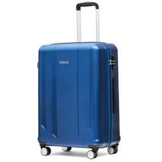 美旅AmericanTourister拉杆箱 商务男女行李箱飞机轮大容量旅行箱 24英寸TSA海关锁BX3哑光深蓝 319元