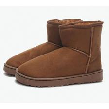 速抢!PINKORANGE 中筒保暖雪地靴 77.12元包邮(需用券)