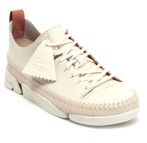 折合792元 Clarks Originals 女子/男子 Trigenic Flex 三瓣鞋 白色款