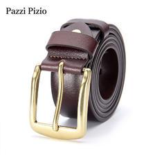 ¥49 柏芝斐乐(PazziPizio)男士皮带真皮针扣潮流复古休闲新款腰带(M303棕色款