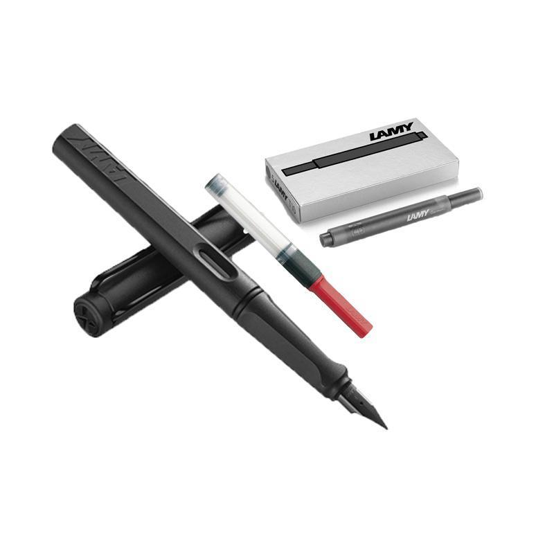 ¥149 LAMY凌美safari狩猎者F尖钢笔磨砂黑+吸墨器+黑色墨芯
