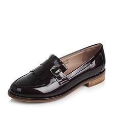 ¥169 Tata/他她 英伦流苏金属扣方跟浅口女鞋2HC81CQ7