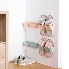 Quail 家用塑料拖鞋架 颜色随机 3个装 *2件 11.8元包邮 折合5.9元/件