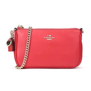 COACH 蔲驰 奢侈品 女士红色皮质手提包 24055 LIMXE 855元