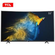 限地区: TCL D55A930C 55英寸 4K曲面 液晶电视 3349元邮
