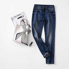 ¥139 网易严选 女式基础修身直脚牛仔裤 2色