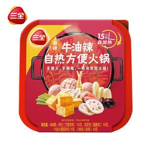 三全 自热麻辣小火锅 450g 大分量10个菜 19.9元包邮