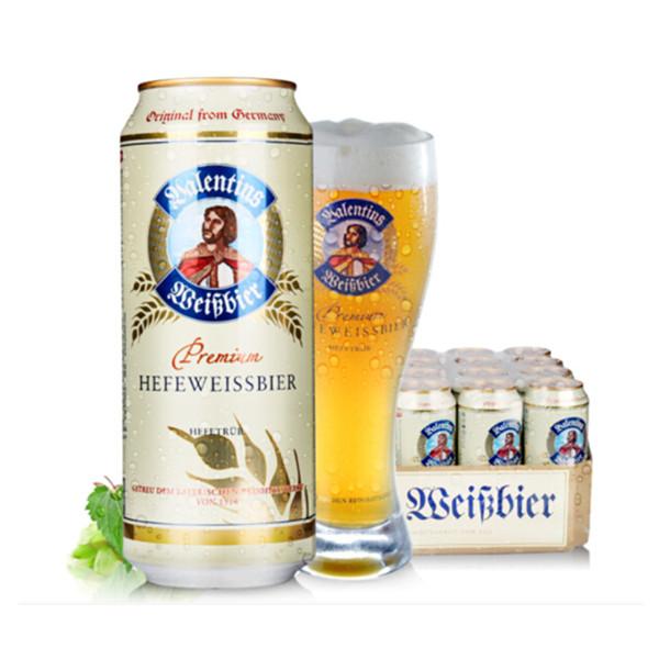 德国进口!爱士堡小麦啤酒 500ml*24听 109元包邮
