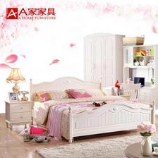 A家家具 韩式实木床 1.8米 ¥1198