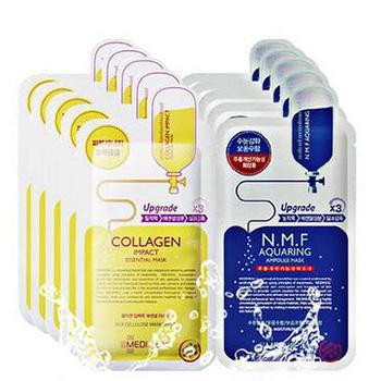 Clinie 韩国可莱丝NMF针剂水库面膜10片+胶原蛋白面膜10片