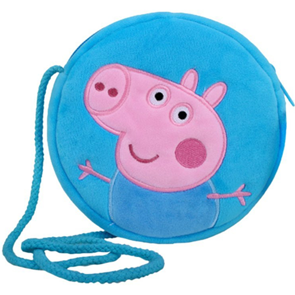 生动可爱!Peppa Pig小猪佩奇乔治斜挎包 14.9元(满99元包邮)